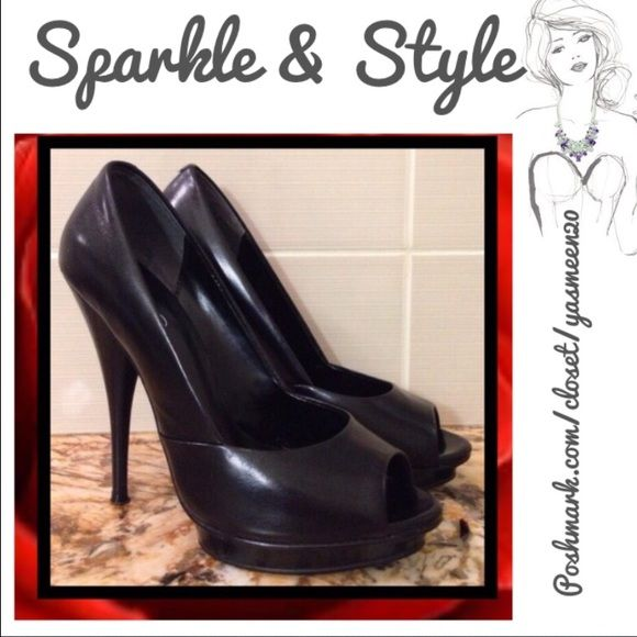 ❤️Black Aldo heels❤️ GETT'EM BEFORE THEY'RE GONE!!  These heels are great for any occasion! Go well with many outfits! 5 inch heel; 1/2 inch platform. ALDO Shoes Heels