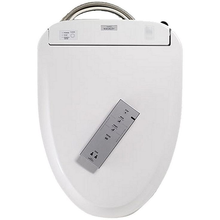Toto SW584 Elongated Closed Front Toilet Seat with Lid and Washlet® with eWater+