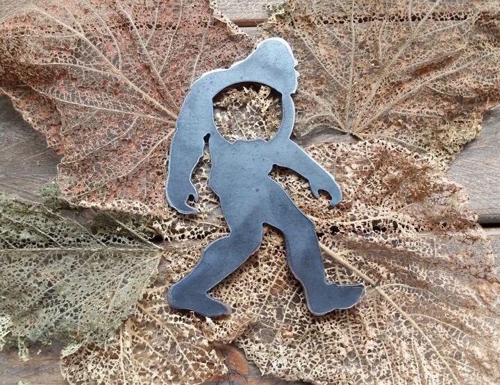 Etsy Sasquatch Bigfoot Metal Bottle Opener Yeti Rustic raw Steel Personalize Industrial Travel Gift, wedd