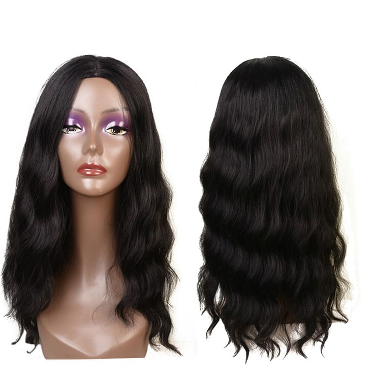 Feibin Female Wigs For Black Women Wavy Hair Heat Resistant Full Head Long Adjustable Cap