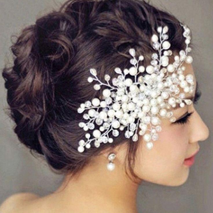 로맨틱 여성 머리띠 신부 빗 신부 헤어 액세서리 클리어 크리스탈 빗 머리 장식 웨딩 파티 머리띠 SG065