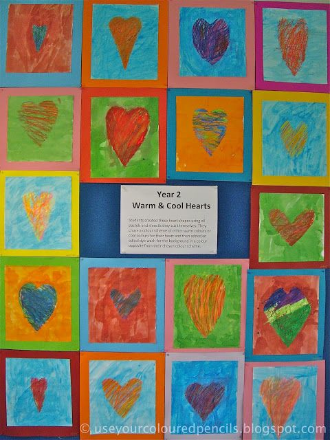Use Your Coloured Pencils: Warm and Cool Hearts