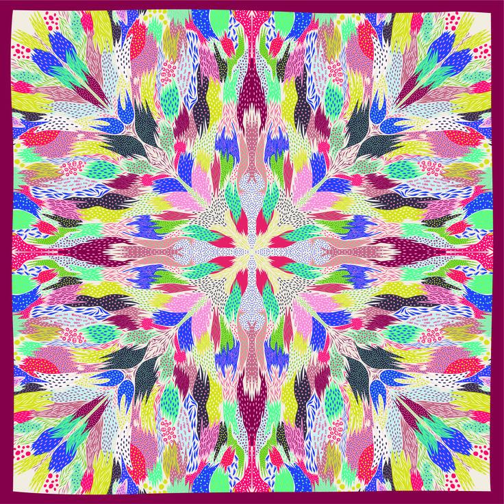 Colors scarf 110 x 110 cm