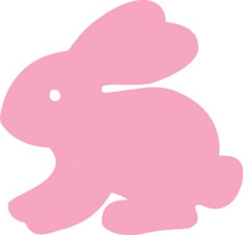 Rabbit Calendar Cut-Outs - Perfect for spring or Easter!    Use these colorful, reversible rabbit shapes for patterning activities and bulletin board borders and to add interest to art projects.    Approx. 3in. 31 per package.