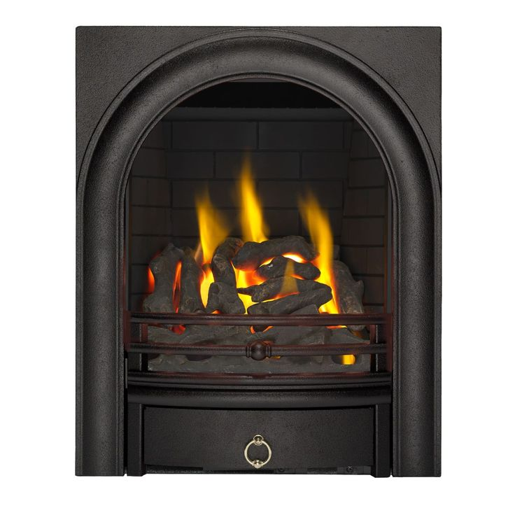 Focal Point Arch Black Manual Control Inset Gas Fire | Departments | DIY at B&Q