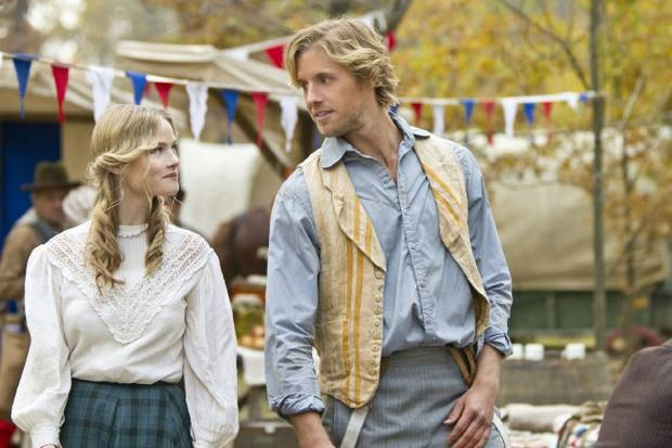 'Hatfields & McCoys' I fell totally in love with this real life Romeo and Juliet romance <3