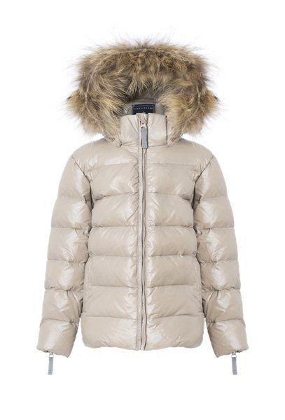 VER de TERRE | Featherlight girl jacket w/fur - click through for more colours!