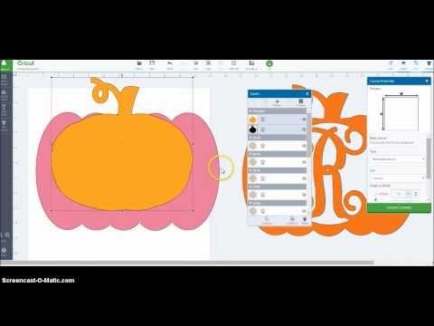 Using weld & slice in Cricut Design Space - Monogram Pumpkin - YouTube