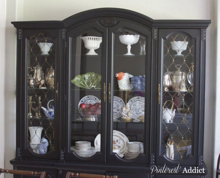 China Cabinet Makeover Black CabinetsChina MakeoversDining RoomsHutchSideboard