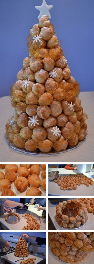 French Croquembouche Tutorial. Though traditionally a dessert for weddings, the croquembouche seems like a fun (yet difficult) to try for a special occasion.