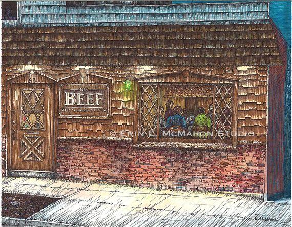The Beef  Binghamton New York by ErinMcMahonStudio on Etsy