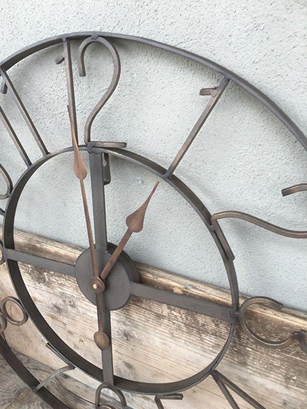Industriele klok wandklok met cijfers bruin old look 60 cm landelijk