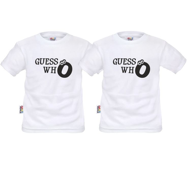 Tee shirt enfant jumeaux: guess who - Vêtements jumeaux - SiMedio