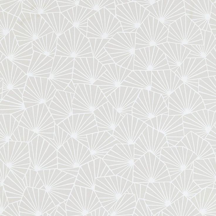 Papier peint SIBYLLE 100% intissé motif graphique mat, gris perle - Peinture et Papier Peint -