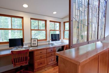 27 best images about craftsman homes on pinterest home for Craftsman style office