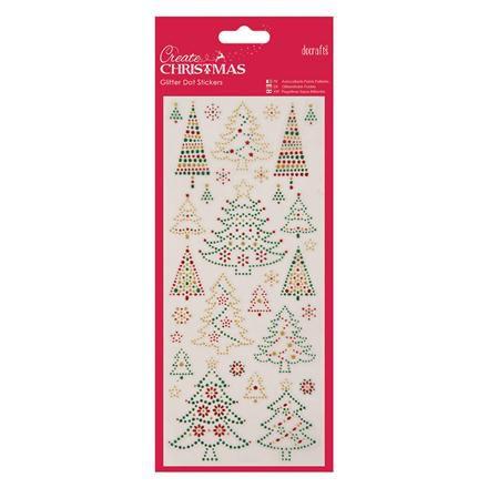 Naklejki Brokatowe - Papermania - Christmas Trees | Producenci \ Docraft Akcesoria i dekoracje \ Naklejki Ozdobne \ Święta