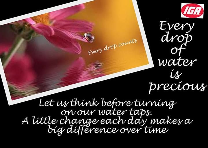 every drop of water is precious
