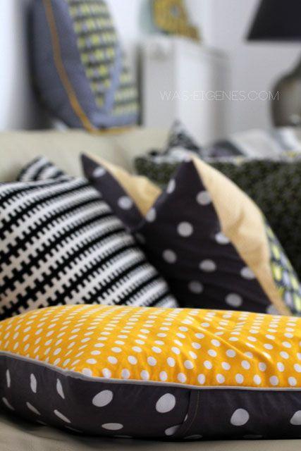 """Sew-4-home: neue Wohnzimmerkissen, oder ich bin immer noch im """"gelb-Fieber""""! - 'was eigenes' - DIY - Erlebtes - Kulinarisches - Gelesenes"""