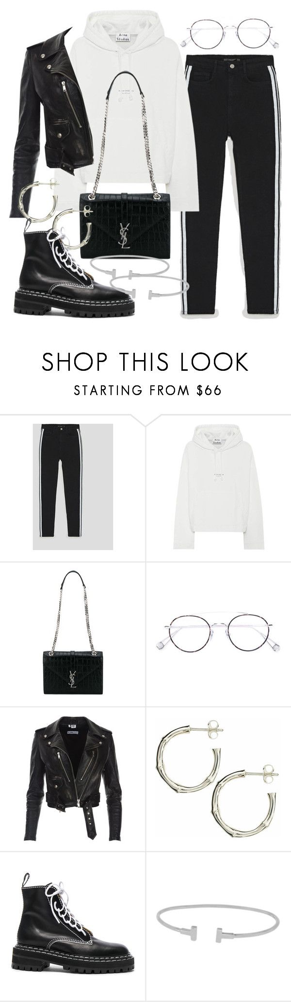"""""""Untitled #2689"""" by mariie0h ❤ liked on Polyvore featuring Acne Studios, Yves Saint Laurent, Ahlem, Dinny Hall, Proenza Schouler and Tiffany & Co."""