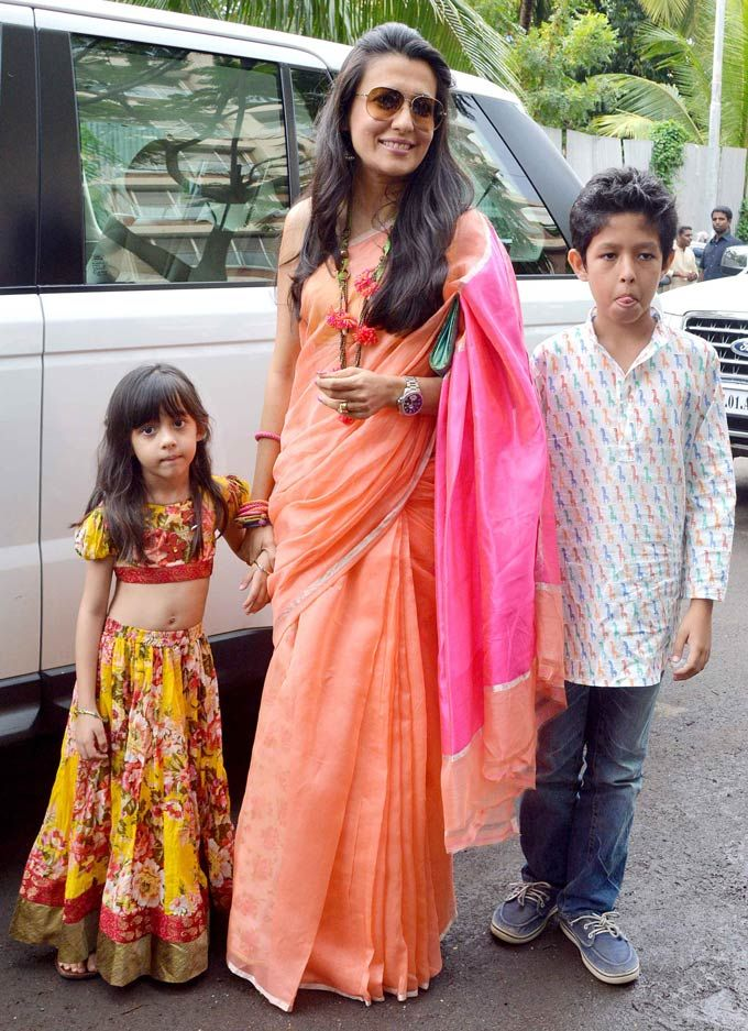 Mini Mathur with kids