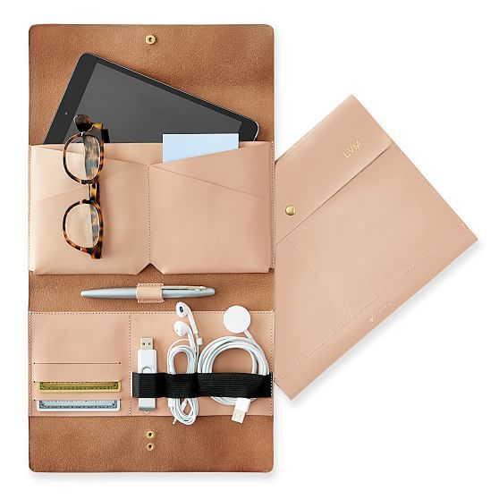 Leather Tech Envelope | Mark and Graham
