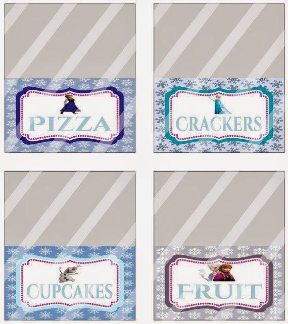 Free Printable Frozen Party Food Labels