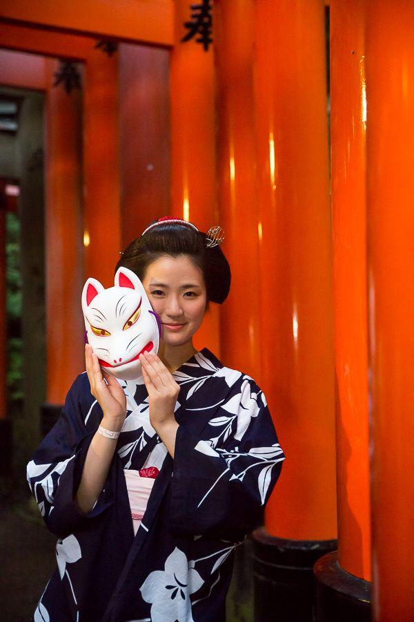 maiko hinayuu at yomiya festival, fushimi inari shrine, kyoto | japanese culture #kimono