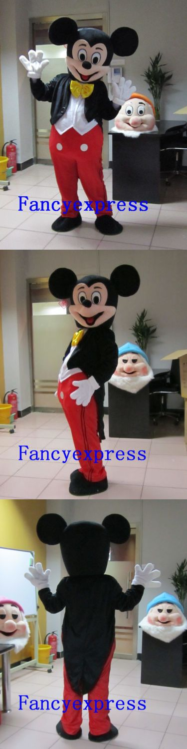 Unisex 86207: Best Mickey Mouse Mascot Costume Carnival Fancy Dress Suit Adult Free Shipping -> BUY IT NOW ONLY: $59.99 on eBay!