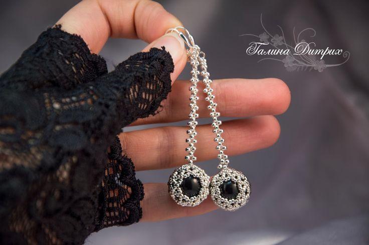 Galina Dietrih: МК: Ажурное оплетение ювелирных кристаллов и жемчуга Сваровски