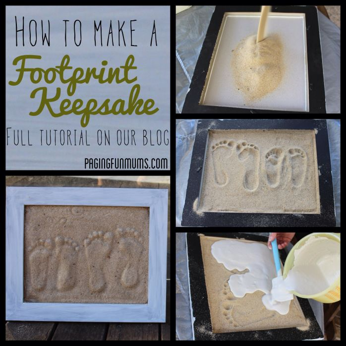 DIY Plaster Footprints