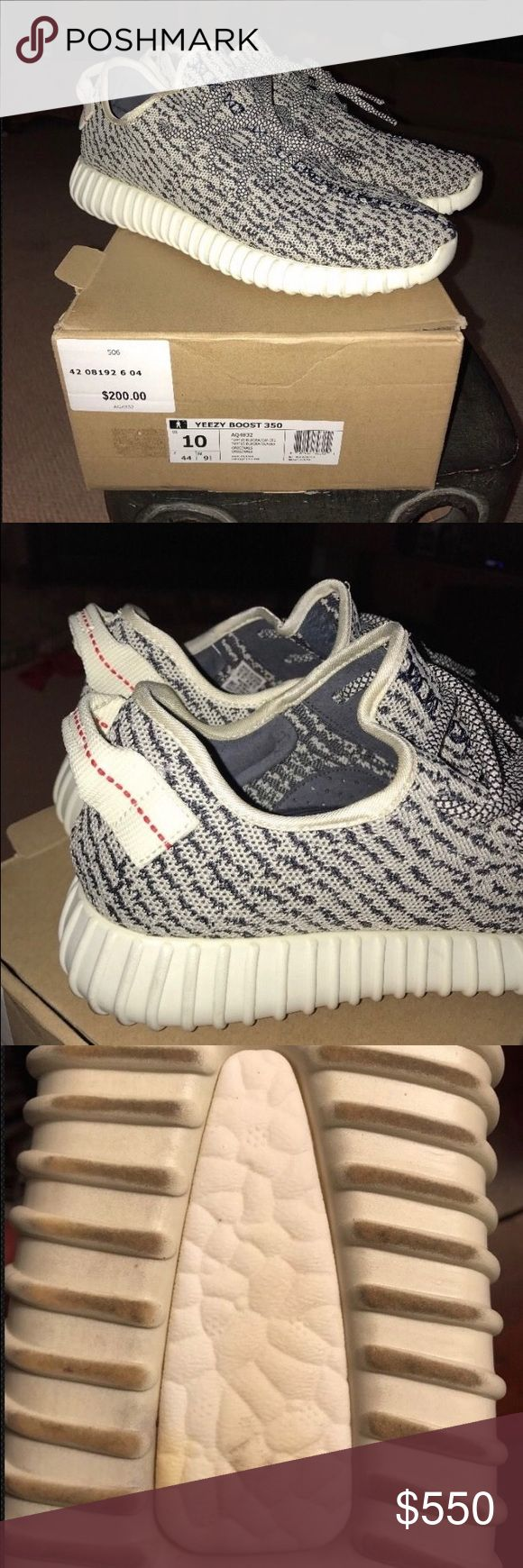 Adidas yezzy boost 350 Turtle Dove men size 10 Yeezy Turtle Dove Size 10 US  These shoes have been lightly worn  These Yeezys are 100% authentic  The original hang tag is included  Please message with any questions  Original box  Cleaned regularly Adidas Shoes Sneakers