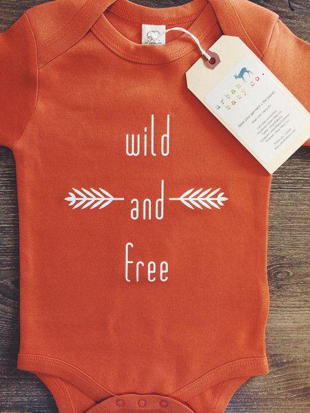 Wild & Free Boho, Hippie, Baby, Boy, Girl, Unisex, Gender Neutral, Infant, Toddler, Newborn, Organic, Bodysuit, Outfit, One Piece, Onesie®, Onsie®, Tee, Layette, Onezie®