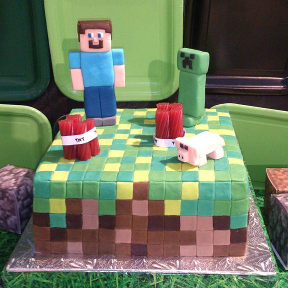 Minecraft Themed Party