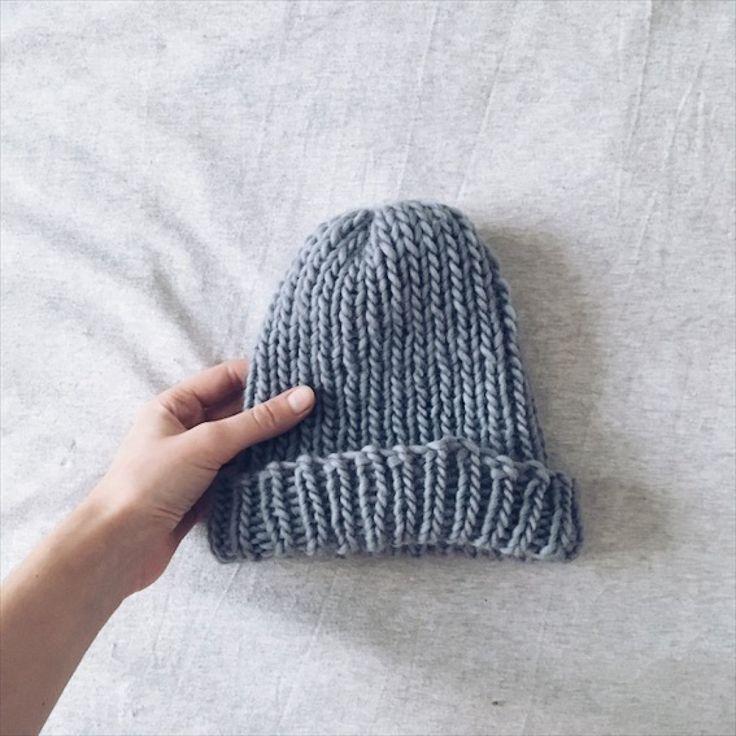 Tuto tricot: un bonnet à côtes