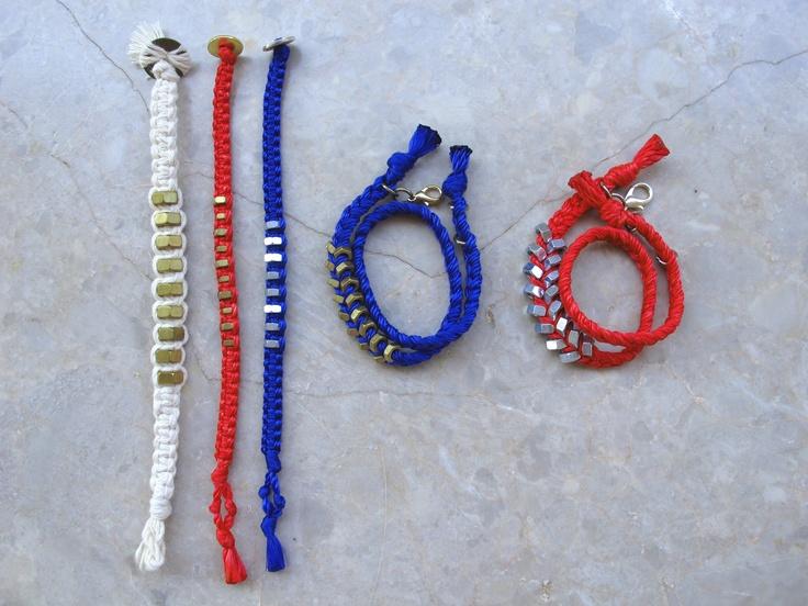 Hex nut macrame bracelets & Hex nut bracelets-double