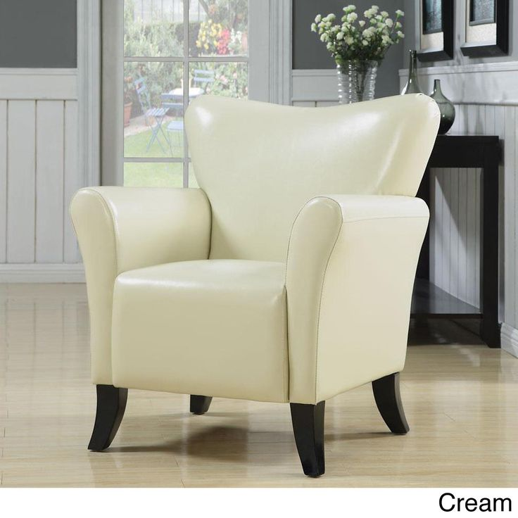 Gleason Cream Accent Chair  Vinyls, Colors and Chairs