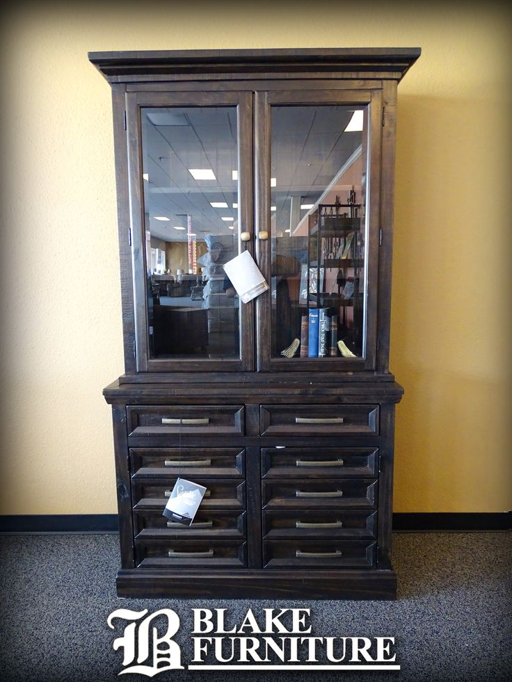 Need some extra storage?  Check out all of the beautiful options we have to offer, like this Ashley Furniture Signature Design Hutch. This piece would look great in your home office or even in the dining room where it could display a beautiful set of dishware. Be sure to stop by our store, or check out one of the other 8 East Texas locations for all of your storage needs.  Be sure to check out our website at BlakeFurniture.com