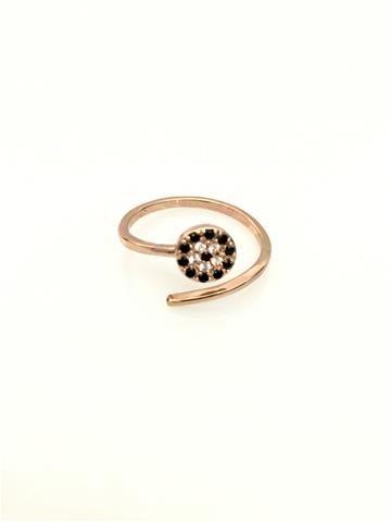 La Bella Donna - Γυναικειο δαχτυλιδι με μικρο ματακι ροζ χρυσο