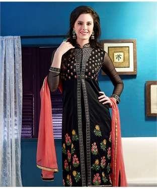 Chanderi Suit with Dupatta