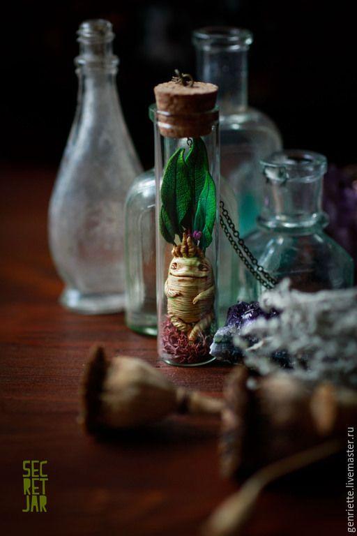 """Купить Подвеска """"Мандрагора"""" - бежевый, телесный, корень, мандрагора, магия, волшебство, Гарри Поттер, колдовство"""