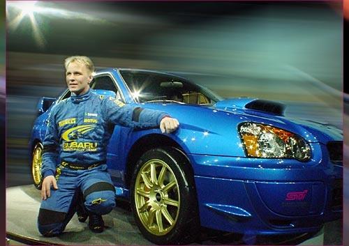 Petter Solberg winning the 2003 WRC title