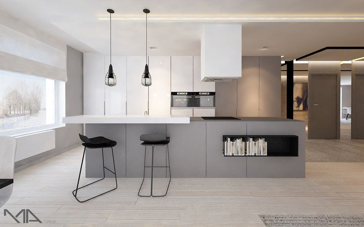 Like the cleanness of this cool kitchen!