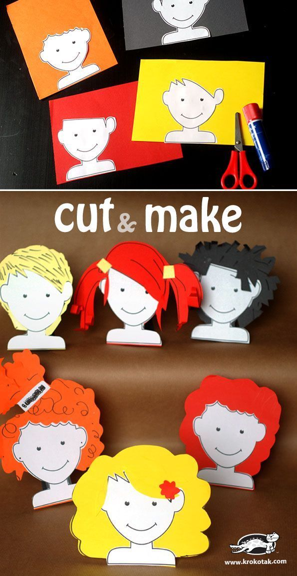 Creative Kids Craft - Cut & Make Hairstyles