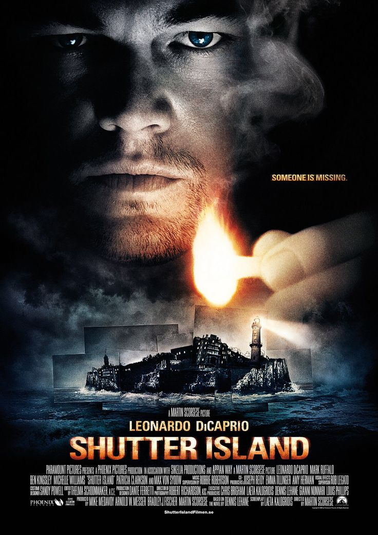"""Shutter Island""(2010).Directed by Martin Scorsese.Starring:Leonardo DiCaprio,Mark Ruffalo,Ben Kingsley.It's a detective thriller on the romance by Dennis Lehane.This film is about paradise which became hell. Recommended age-16+"