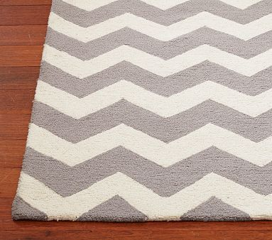 Chevron Wool Rug - Pottery Barn Kids 8'x10' $499