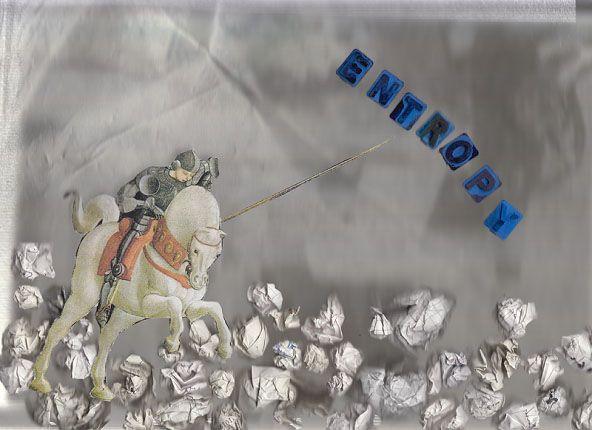 SAN GIORGIO E IL DRAGO  MAURIZIO FUSILLO Tecnica: Scansione/Xerox Art. Stampa digitale su carta, 29,7 * 42 cm , 2014 L'opera riprende il personaggio classico di San Giorgio attualizzandone il mito. L'eroe combatte l'entropia, il caos, il drago dell'era moderna che turba gli uomini e il pianeta. L'eroe archetipico, nella sua immagine classica, è chiamato a liberare l'uomo dal caos, a riportare l'ordine, la pace, la serenità.