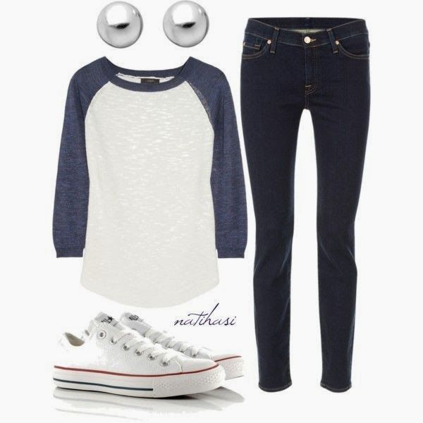 CUTE!  And now I need white converse and a baseball tee!