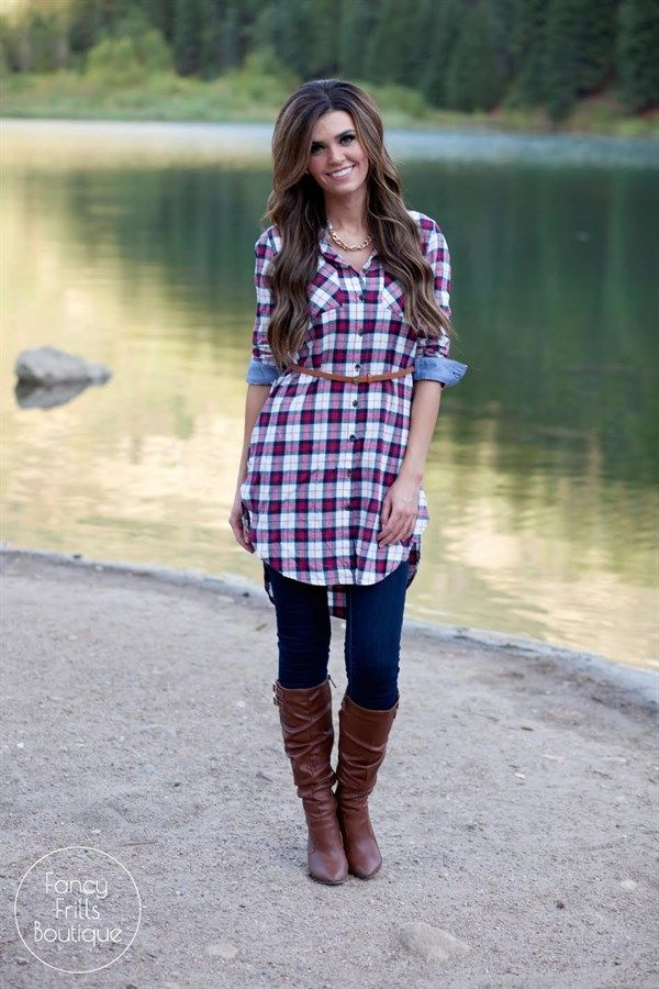 $18.99 | Belted Flannel Tunic Dress! | Jane