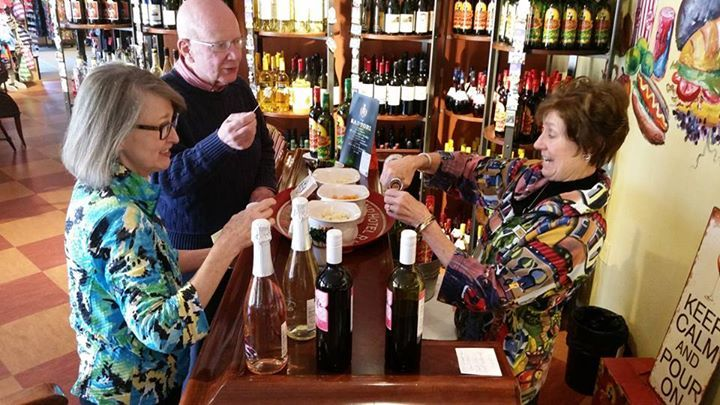 Free wine and cheese tastings, every day at Liberty Square! Open from 8am-8pm, May-October. Downtown Egg Harbor, Door County.