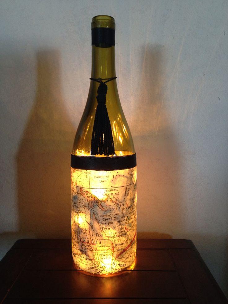 77 best wine bottles images on pinterest shopping center for Champagne bottle lamp
